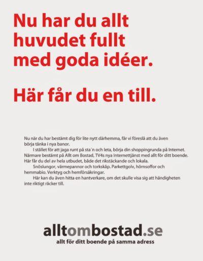 Reklam Allt om Bostad i Vi i Villa