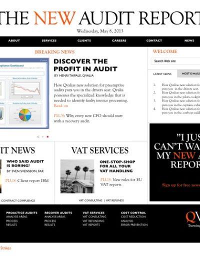 Förslag till omprofilering och ny hemsida för Qvalia