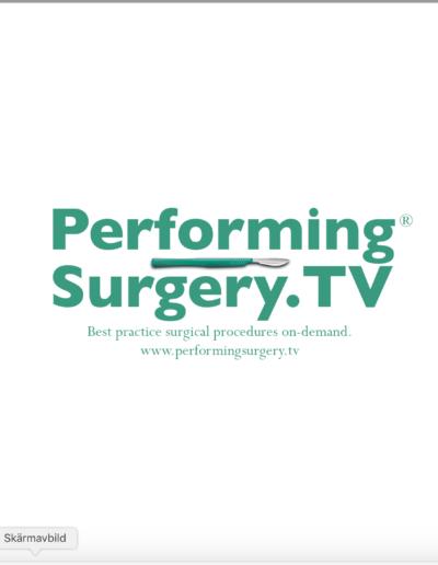 Varumärke och logotyp för Performing Surgery