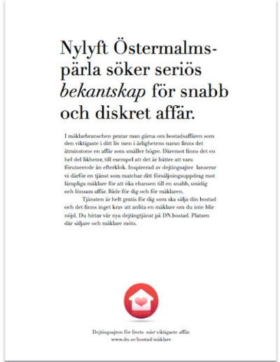 Annons ur reklamkampanj för DN Bostad