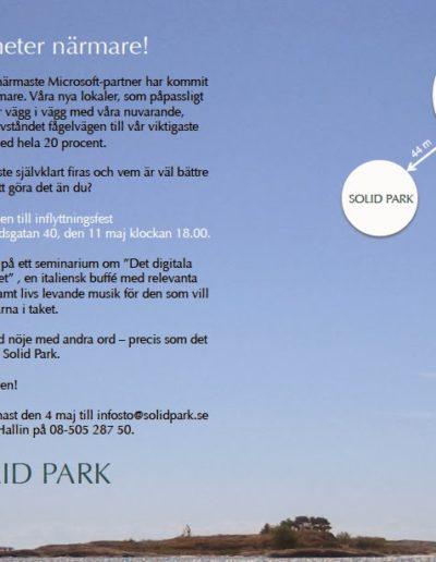 Direktreklam Inbjudningskort för Solid Park