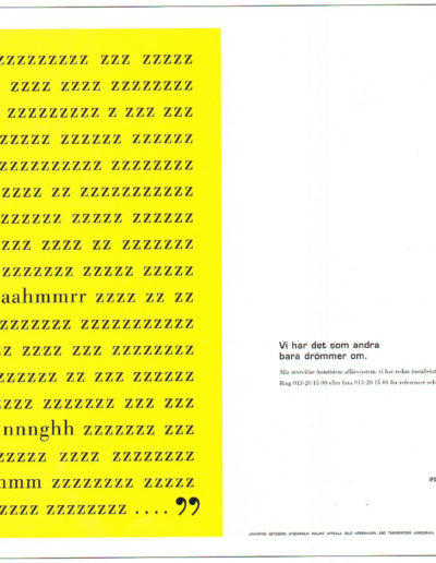 Annons ur reklamkampanj för IFS