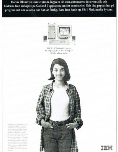 Annons ur reklamkampanj för IBM persondatorer