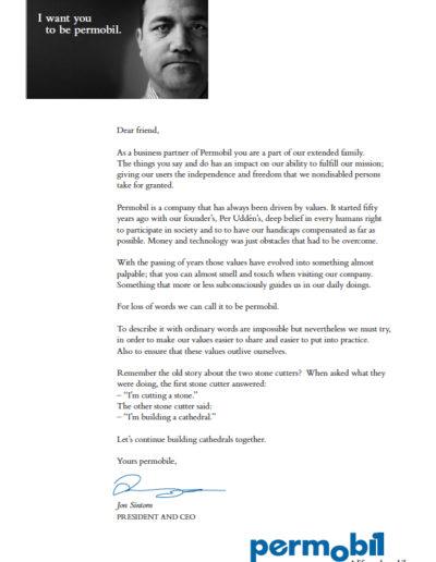 Copywriting brev Permobil
