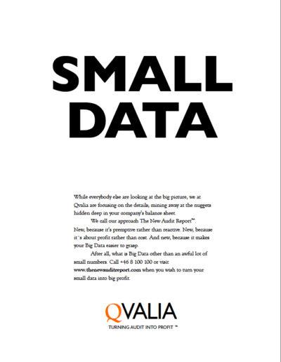 Skiss till annons för Qvalia