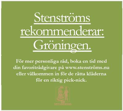 Annons ur reklamkampanj för Stenströms