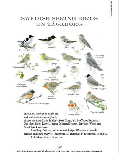 Annons, direktreklam och reklamaffisch för Småfåglarnes Hwenner