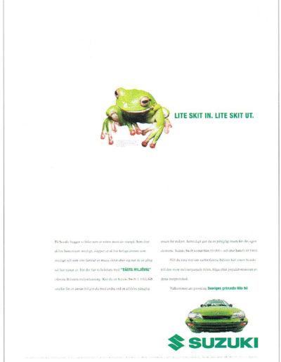 Annons för Suzuki