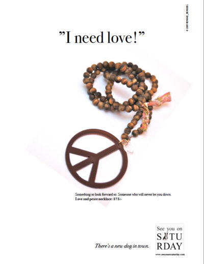 Annons ur reklamkampanj för SYOS